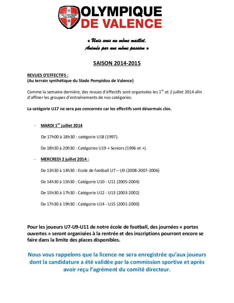 REVUES_D'EFFECTIFS_SAISON2014-2015